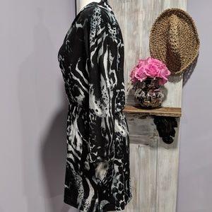 Chico's Dresses - Chico's animal print, wrap top, 3/4 sleeve dress